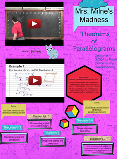 Theorems of Parallelograms