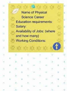 Physical Science Career