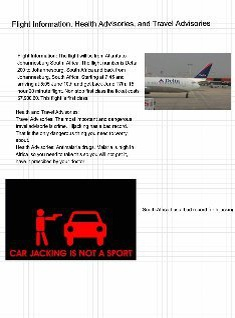Flight info and Advisories