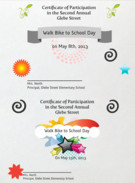 Bike Walk to School Certificate of Participation's thumbnail