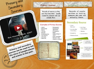 Primary and Secondary Sources Aug 30 2015