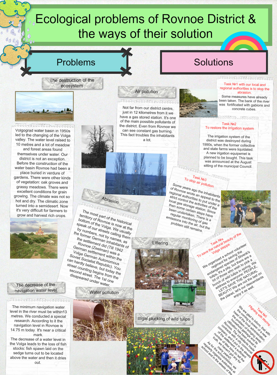 Ecological problems in Rovnoe and the ways of their solution: text ...