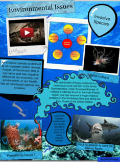 Environmental Issues Poster- Invasive Species (Red Lionfish)