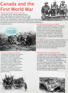 Canada And WW1