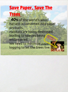 Save paper,Save the Trees
