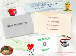 'Project template for the online magazine' thumbnail