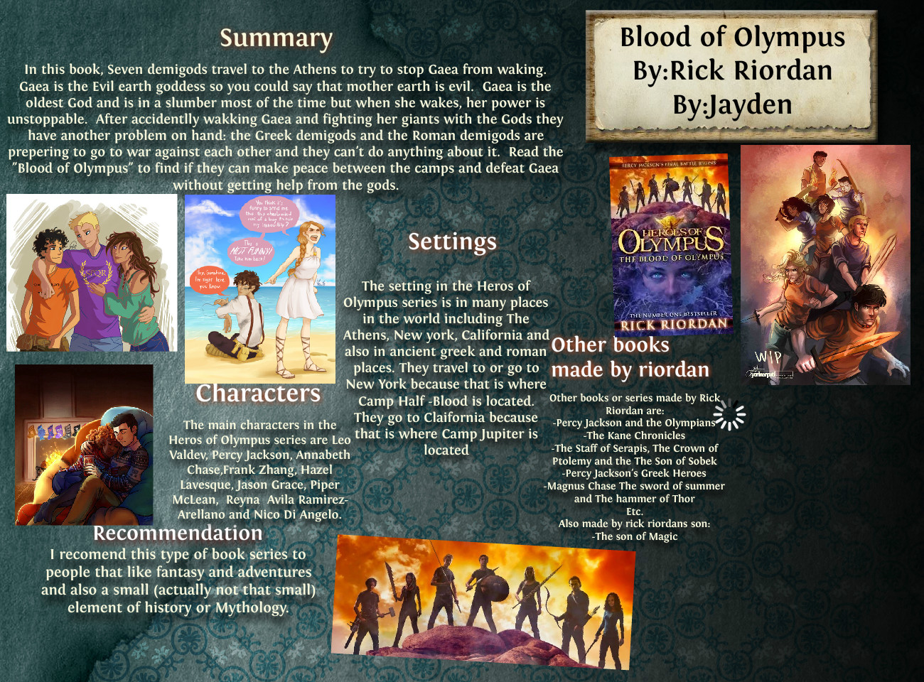 Blood of Olympus Book Review Glog