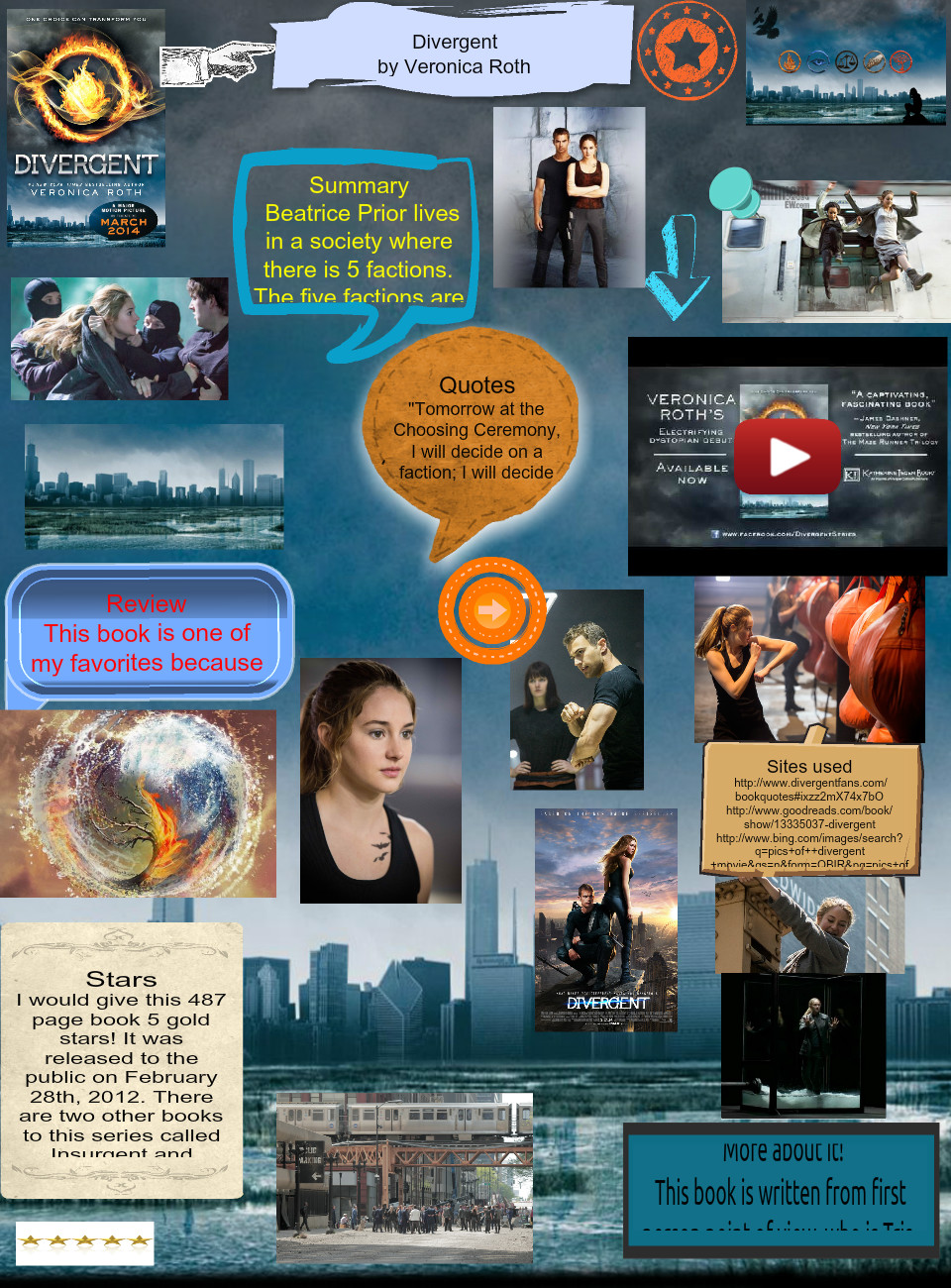 Book report: Veronica Roth - Divergent (Project)