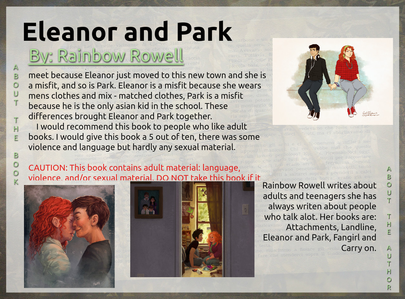 Wylie's glog about Eleanor and Park