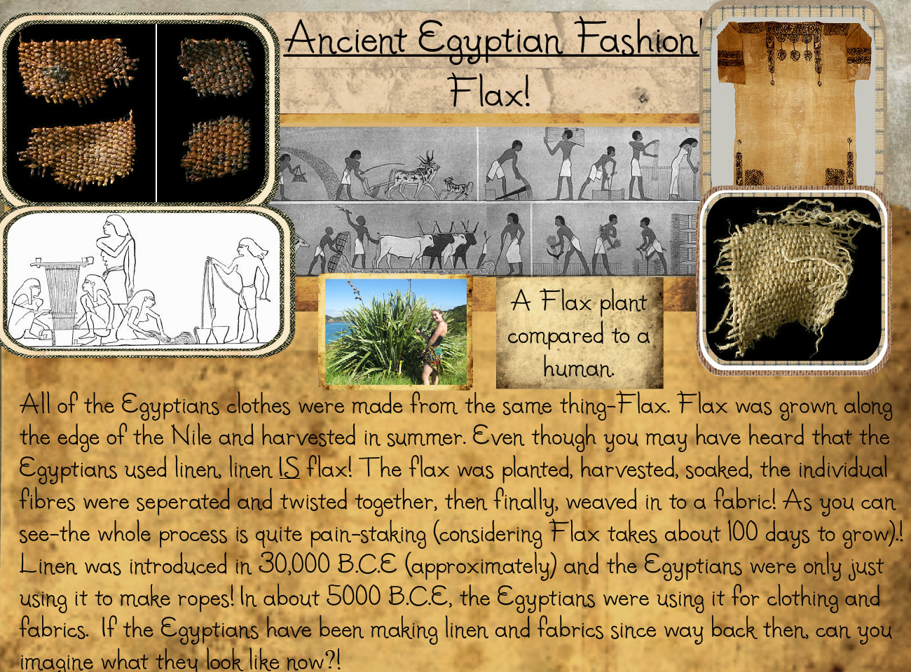 Page 1 - Flax - Ancient Egyptian Fashion