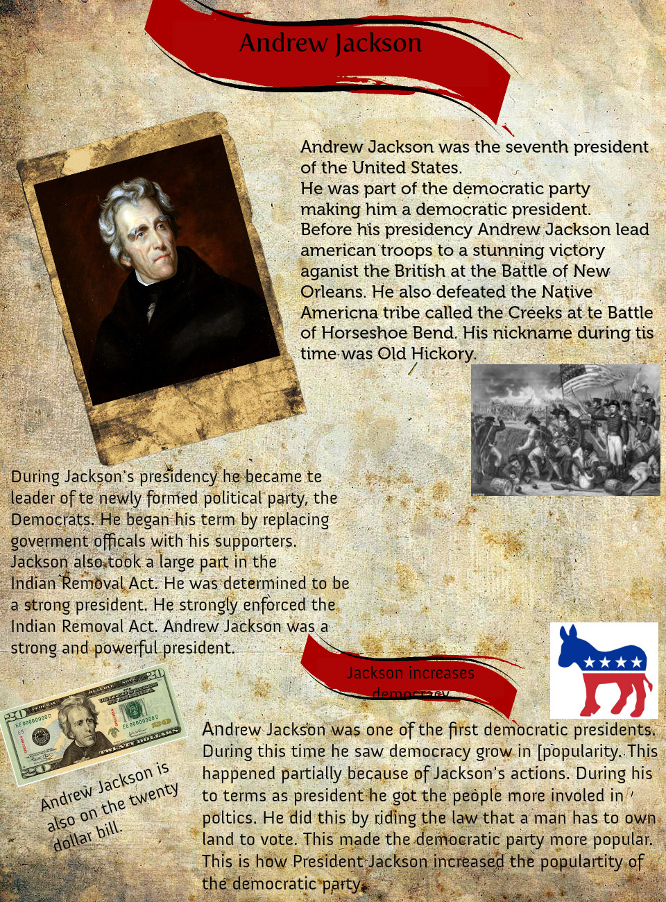 the crisis during the presidency of andrew jackson Case study: general andrew jackson: andrew jackson's military career spanned several wars including the american revolution, the creek war 1 during the election of 1824, which candidate won the popular vote and which candidate won the presidency a) andrew jackson john quincy.