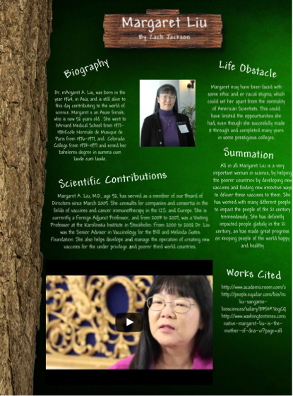 Margaret Liu Science Across Cultures and Genders Project