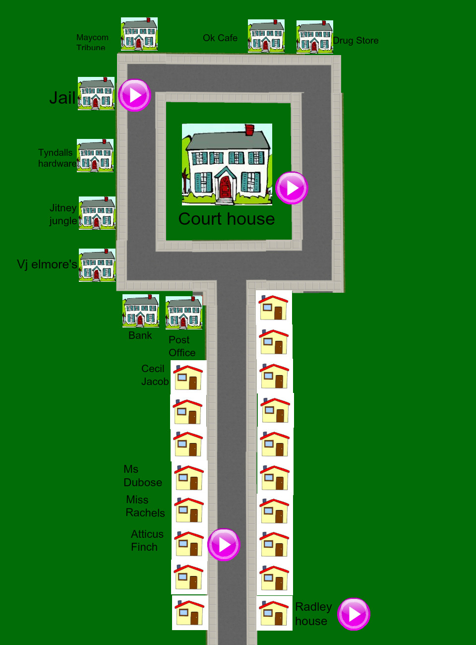 maycomb map bec zanon: text, images, music, video | Glogster EDU ...
