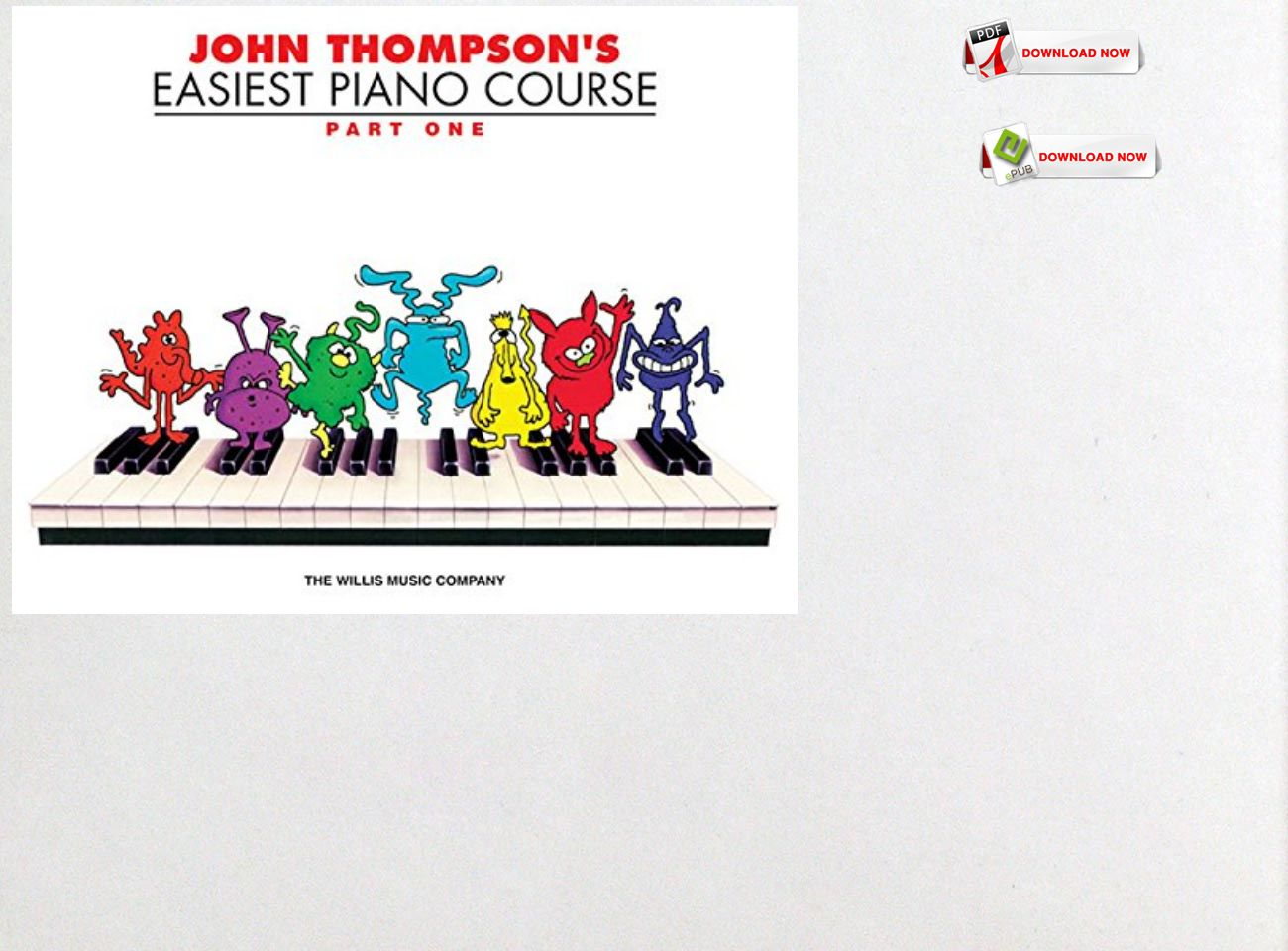 Free Download Pdf Ebook John Thompson S Easiest Piano Course Part 1