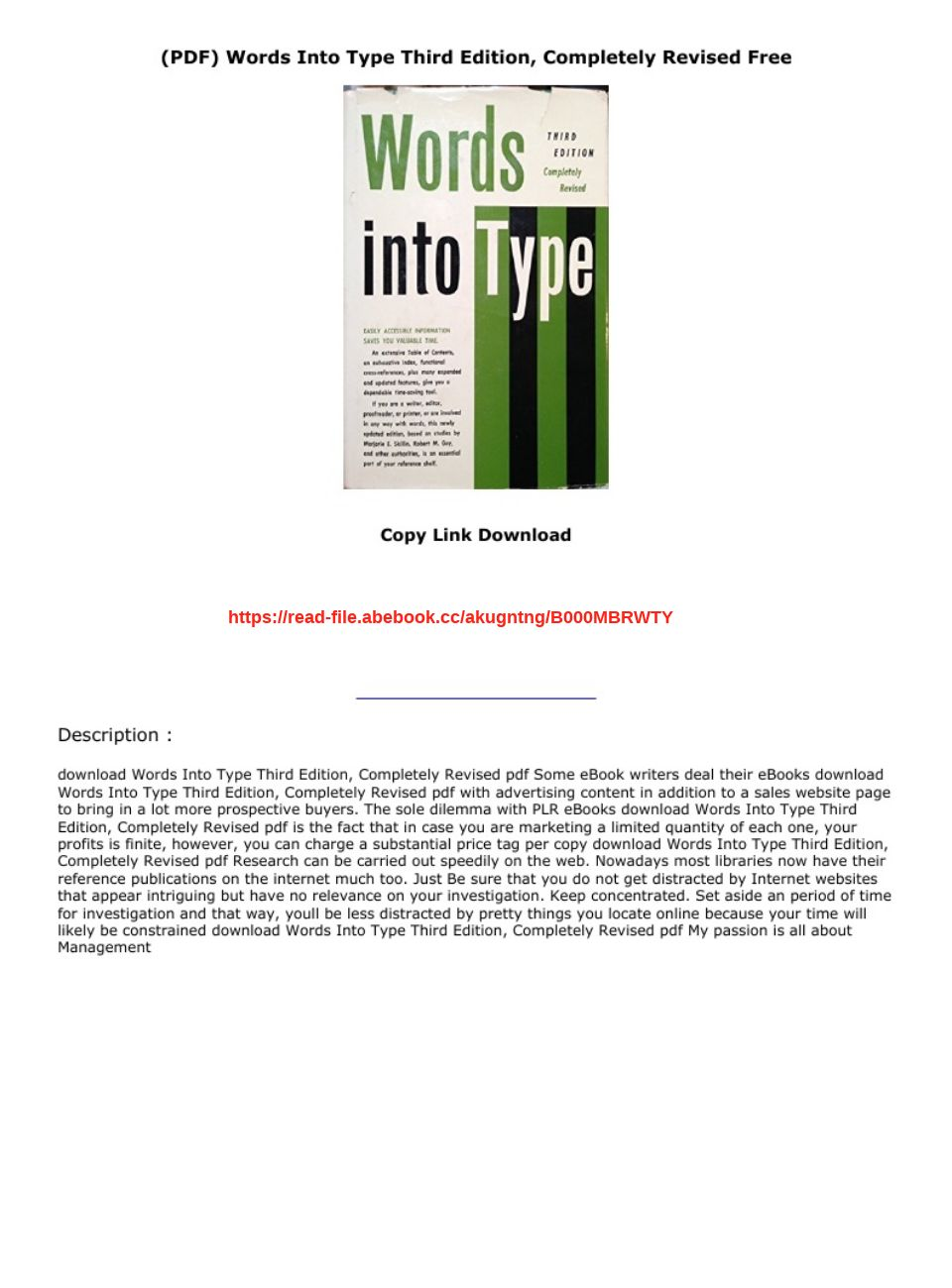 (PDF) Words Into Type Third Edition, Completely Revised Free