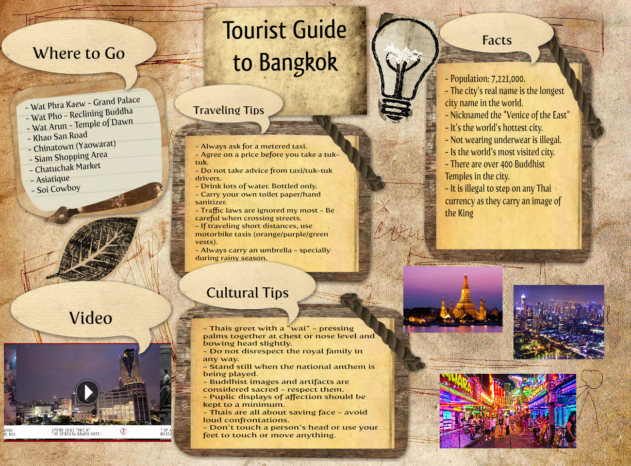 Tourist Guide to Bangkok