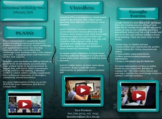 Instructional Technology News February 2016