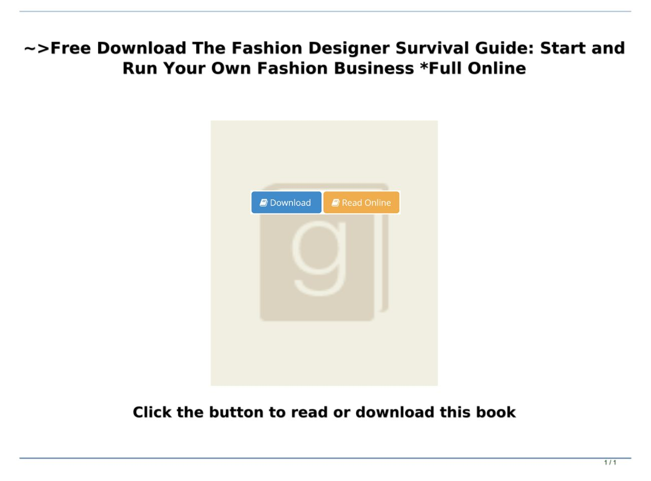 Free Download The Fashion Designer Survival Guide Start And Run Your Own Fashion Business Full O Text Images Music Video Glogster Edu Interactive Multimedia Posters