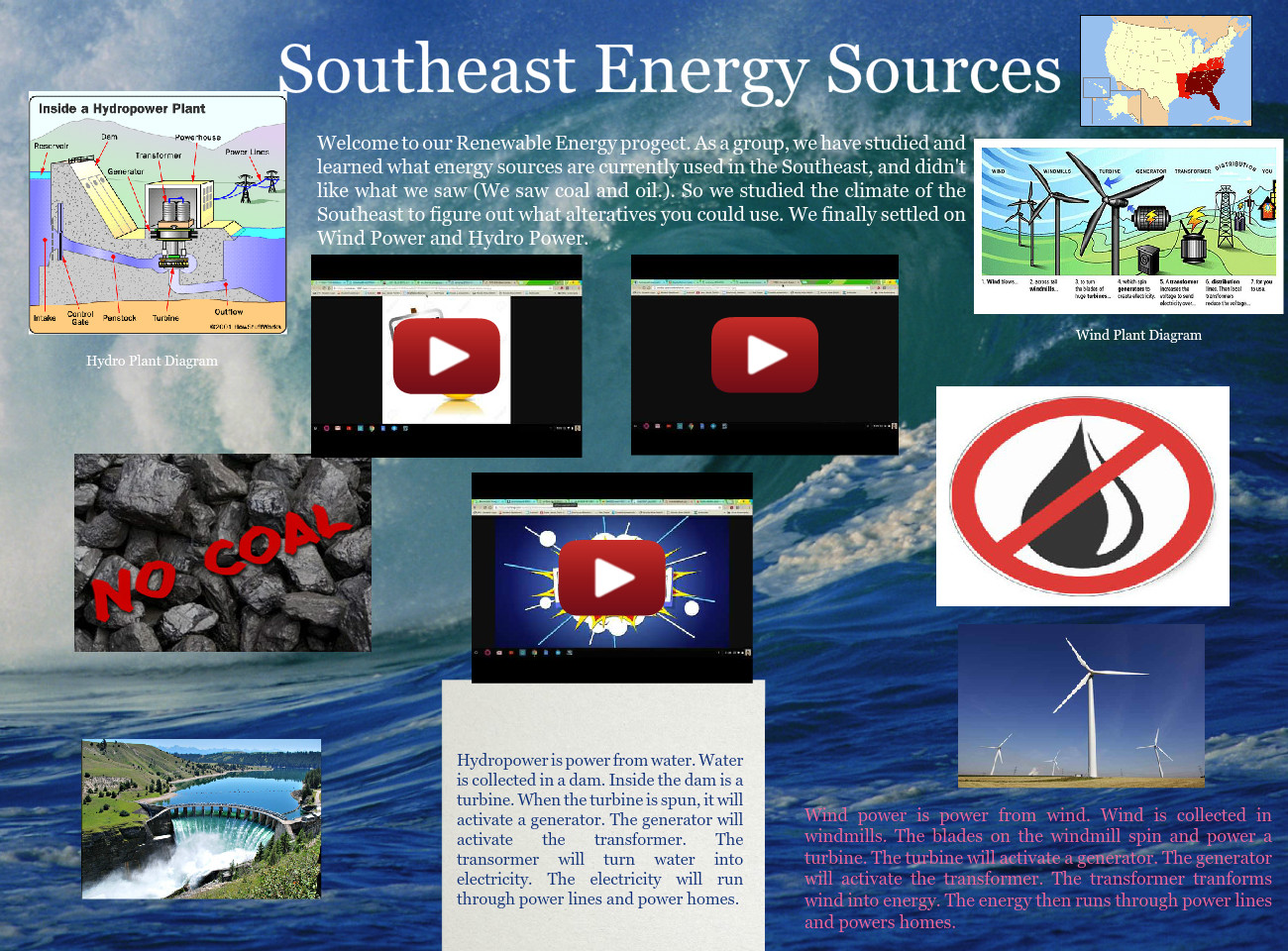 Renewable Energy Sources Text Images Music Video Glogster Edu Hydro Power Plant With Diagram