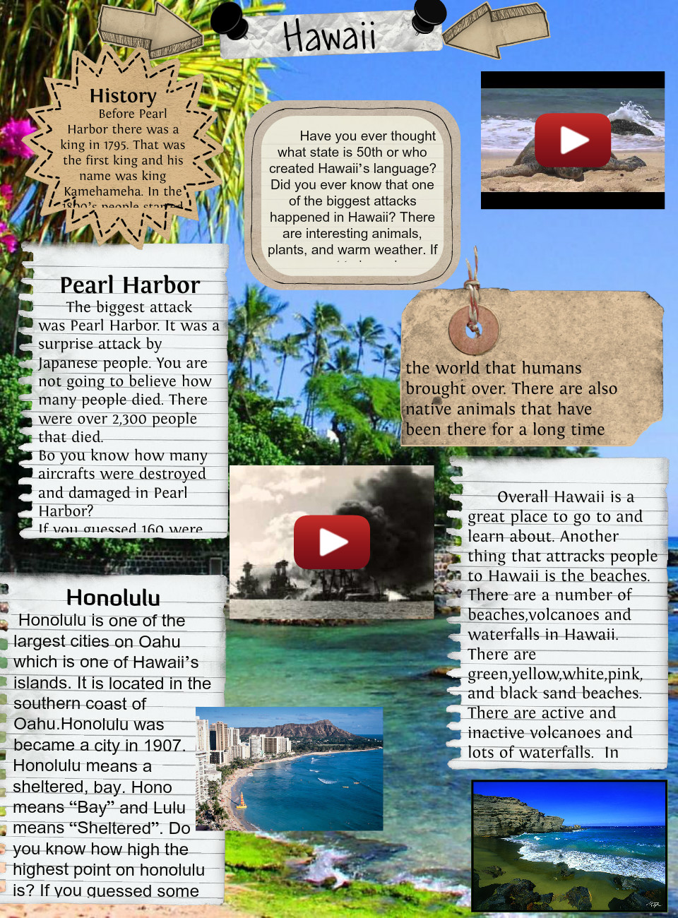 [2015] Kiera Pohan (4th Gr. Room 109 2014-15): Hawaii