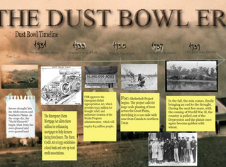 The Dust bowl timeline