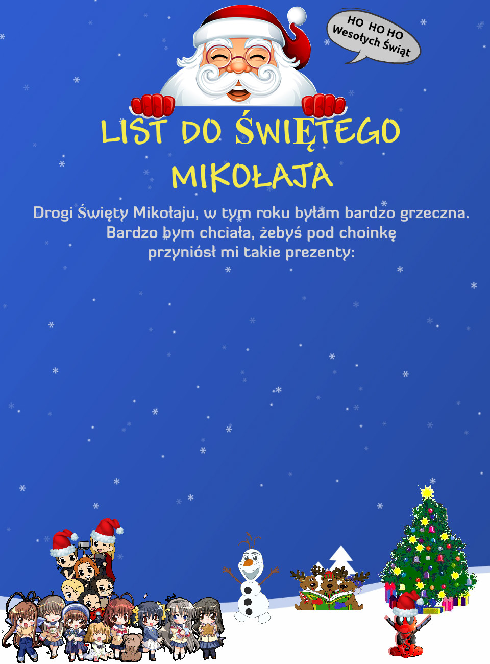 List do Mikołaja